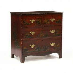 Antique English Chinoiserie Chest of Drawers