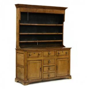Antique English Pine Pewter Cupboard