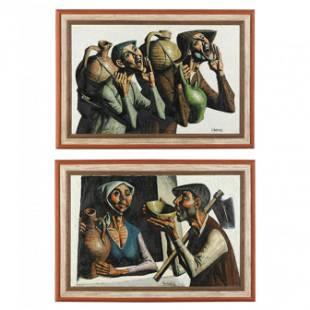 Jesus Villar (Martinez) (Spanish, b. 1930), Two