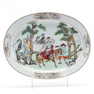 Mottahedeh Porcelain Platter, Nelson Rockefeller