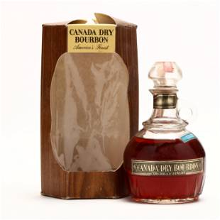 Canada Dry Bourbon in Glass Decanter