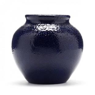 Low Vase, Attributed Auman Pottery, C.B. Masten Glazer