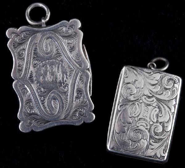3: Two Victorian Silver Vinaigrettes