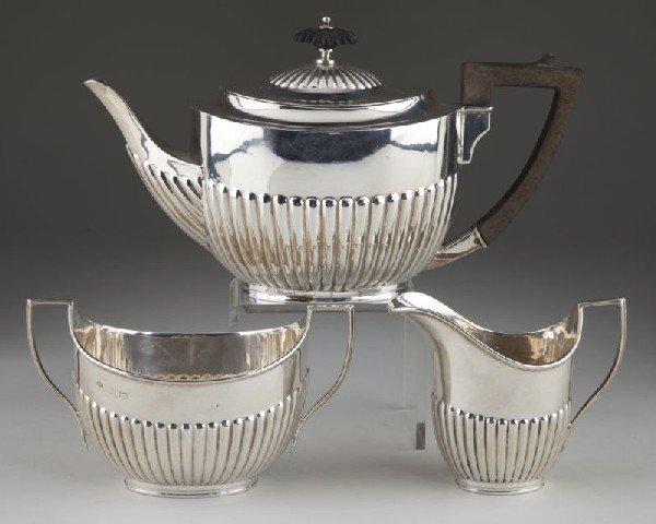 4: Edwardian Sterling Silver Tea Set