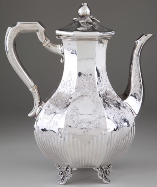 5: Victorian Sterling Silver Coffee Pot