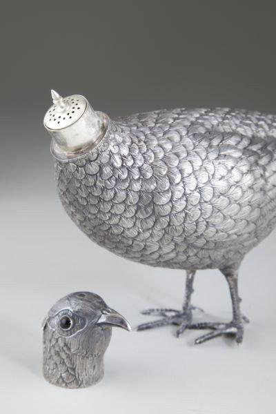 6: Silver Pheasant Table Ornament - 3