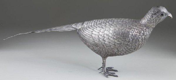 6: Silver Pheasant Table Ornament - 5