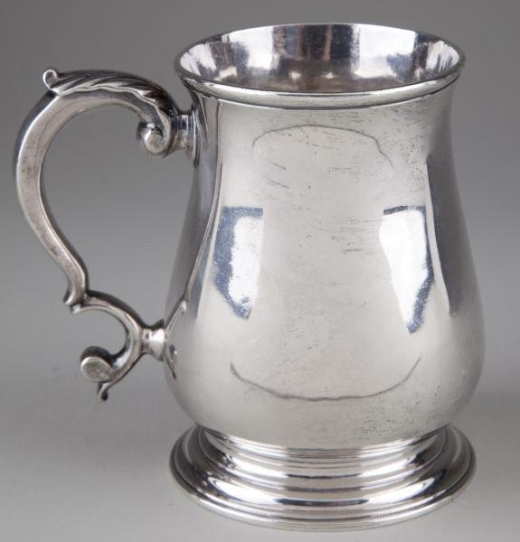 8: George III Sterling Silver Tankard - 2