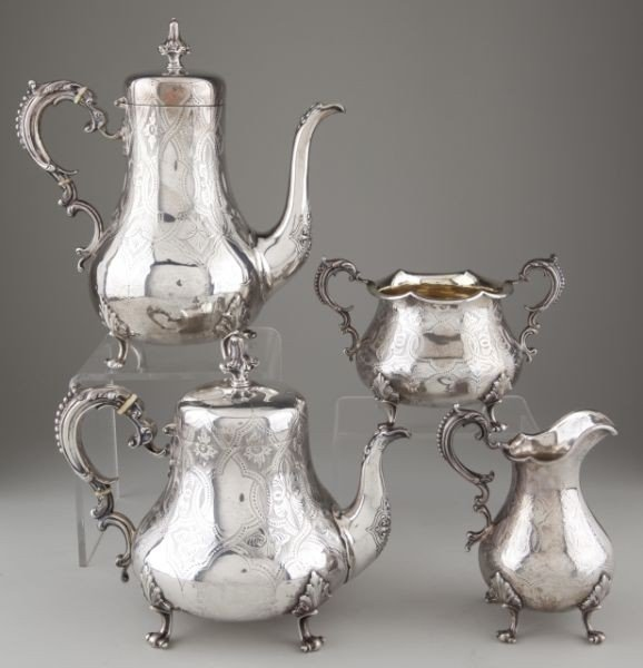 9: Victorian Sterling Silver Tea & Coffee Service