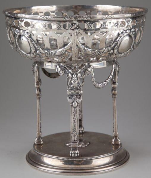 15: German Hanau Silver Fruit Basket