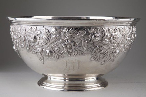 17: S. Kirk & Sons Sterling Punch Bowl and Ladle - 2