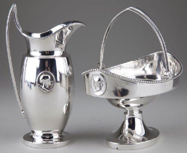 "21: Tiffany & Co. Sterling Silver ""Medallion"" Set"