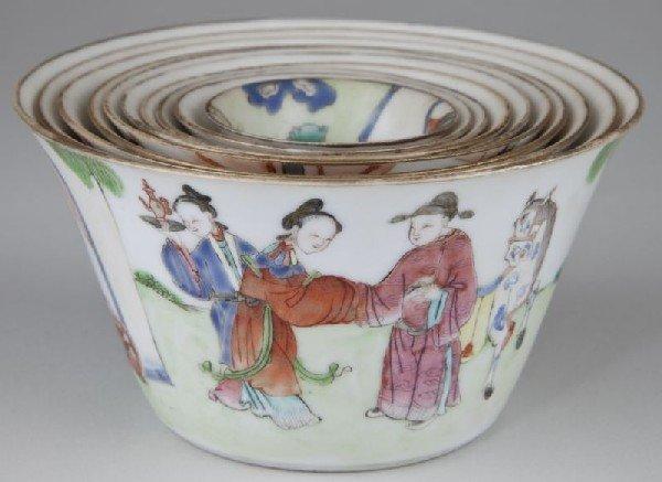 341: Set of Canton Porcelain Nesting Bowls