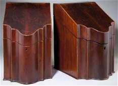 410: Pair of Georgian Knife Boxes, 19th century