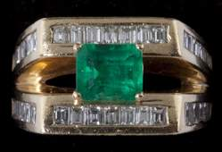 444 Emerald and Diamond Ring
