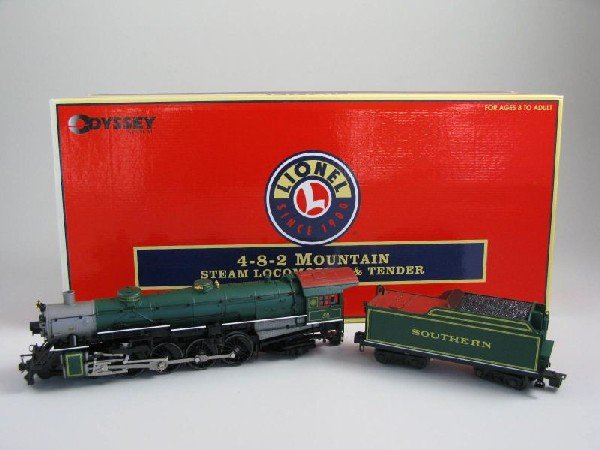 2: Lionel 4-8-2 Mountain Steam Locomotive and Tender