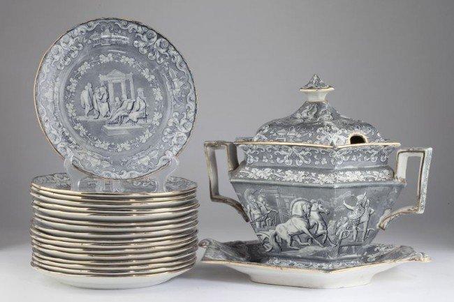 11: Classical Antiquities Transferware Partial Set