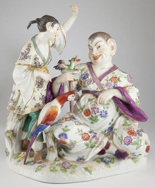 12: Meissen Porcelain Pagoda Figural Group