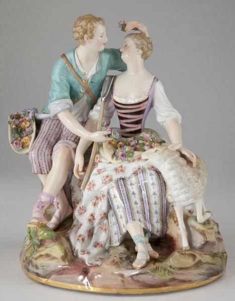 14: Meissen Porcelain Figural Group