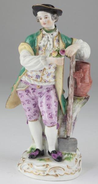 15: Meissen Porcelain Figurine of a Gardener