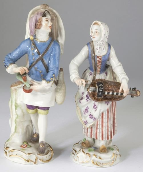 "16: Two Meissen ""Cries of Paris"" Figurines"