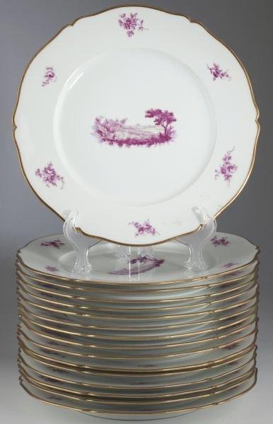 22: Set of (16) Le Rosey Paris Plates