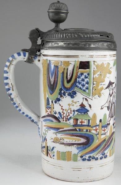 24: Delft Cylindrical Tankard, 18th century