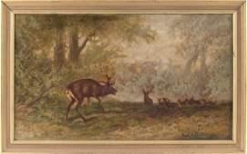 73: Paul Delacroix (NY, 19th c.), The Challenge