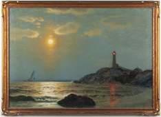 406: James G. Tyler (CT, 1855-1931), Sunset at Sea