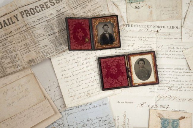 562: NC Confederate Officer's Archive With Images