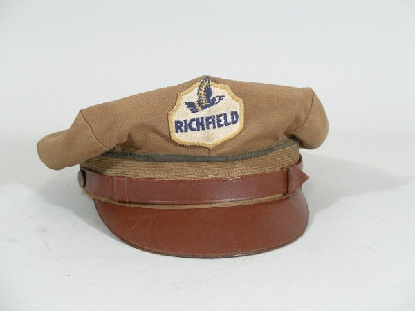 1: Vintage Gas Station Attendant Hat, Richfield Oil,