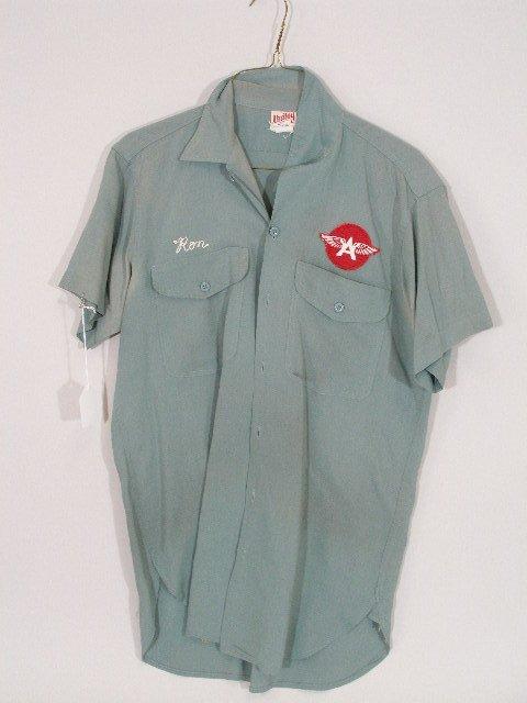 2: Vintage Flying A Gas Station Attendant Hat Shirt,  - 3