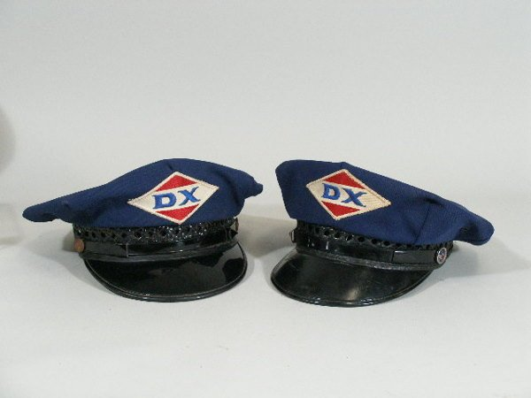 5: Two Vintage Gas Station Attendant Hats, DX,
