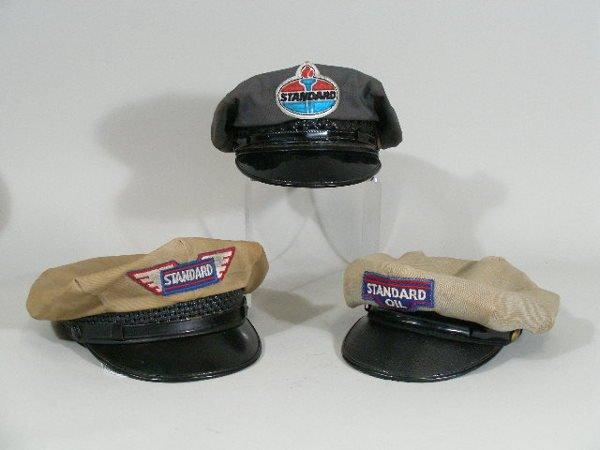 7: Three Vintage Gas Station Attendant Hats, Standard,