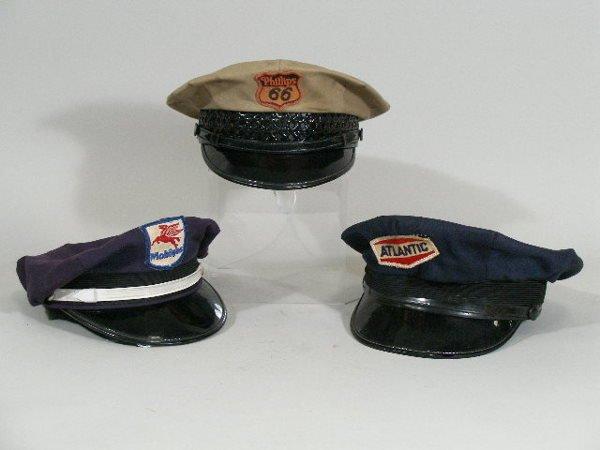 11: Three Vintage Gas Station Attendant Hats,