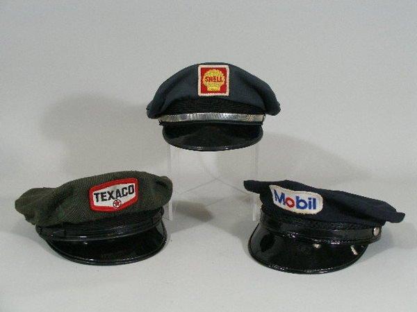 16: Three Vintage Gas Station Attendant Hats,