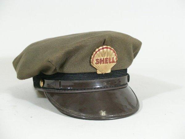 20: Vintage Gas Station Attendant Hat, Shell,