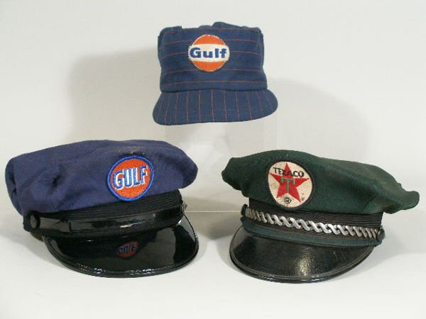23: Group of Three Vintage Gas Station Attendant Hats,