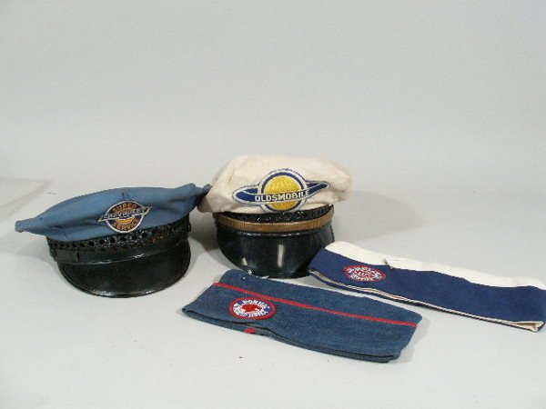 25: Vintage Mechanic Hats, Buick, Pontiac, Chevrolet,