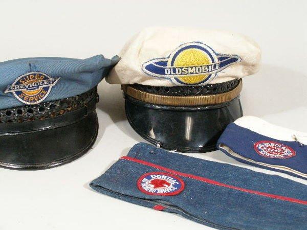 25: Vintage Mechanic Hats, Buick, Pontiac, Chevrolet, - 2