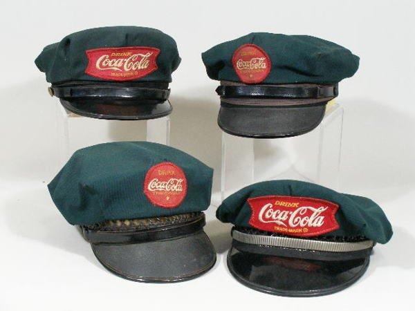 30: Four Vintage Coca-Cola Delivery Driver Hats,