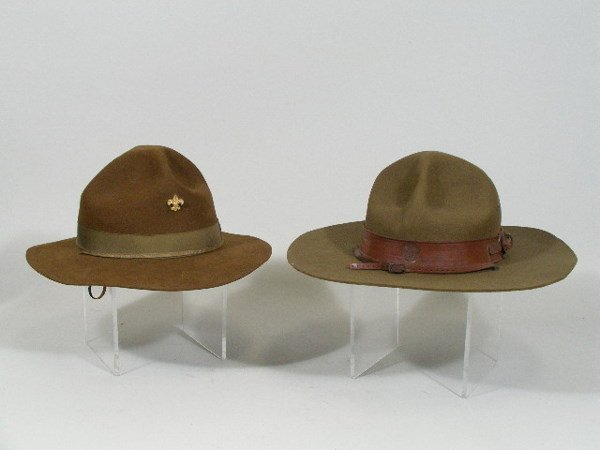 41: Four Vintage Boy Scout Hats,