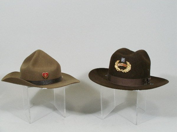 41: Four Vintage Boy Scout Hats, - 2
