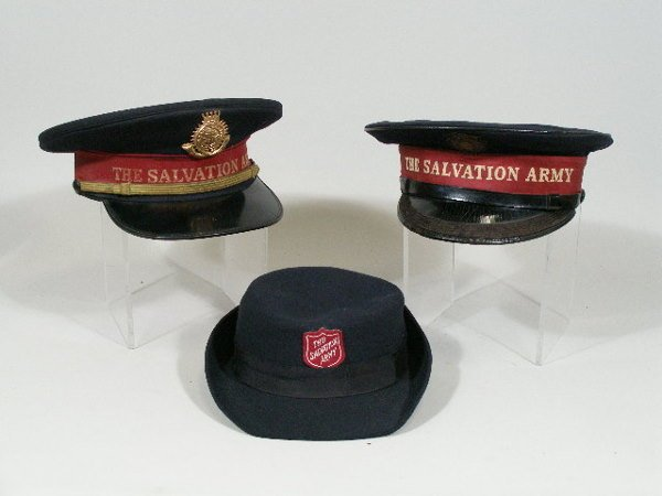 43: Three Vintage Salvation Army Hats,