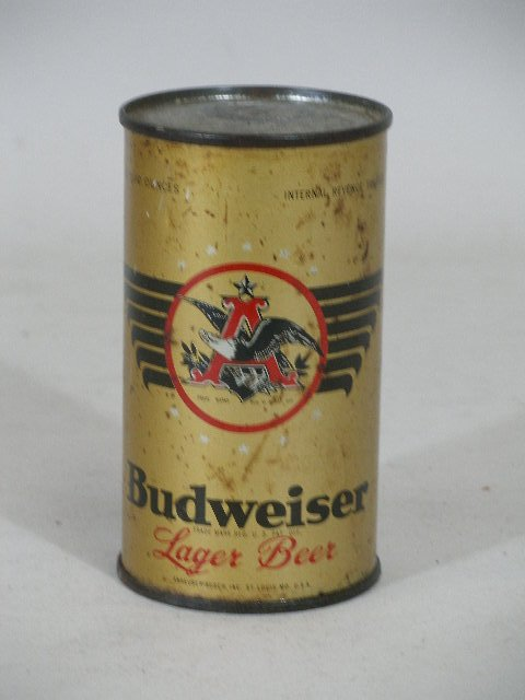 79: Two Beer Hats and 1930s Gold Eagle Flat Top Can - 3