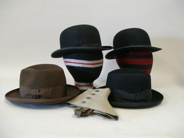 122: Group of Four Vintage Men's Fashion Hats, 1930s,