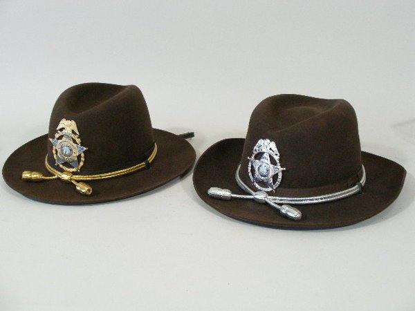 155: Two Vintage Sheriff Hats, Durham, NC,