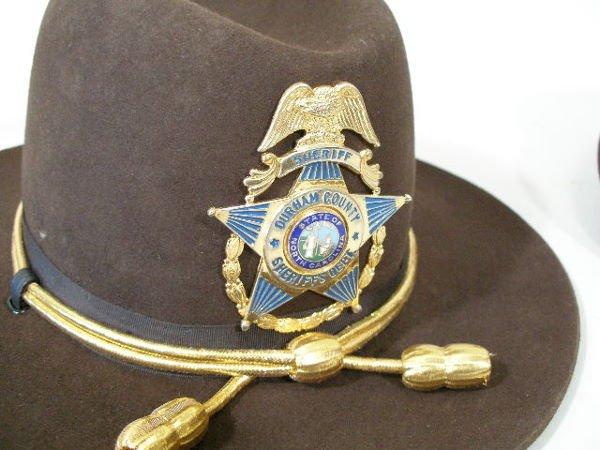 155: Two Vintage Sheriff Hats, Durham, NC, - 2
