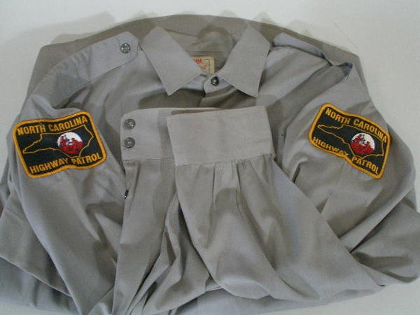 156: Two VintageNC State Highway Patrol Hats and Shirt, - 3