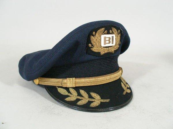 199: Vintage Braniff Int'l Airlines Captain Hat,